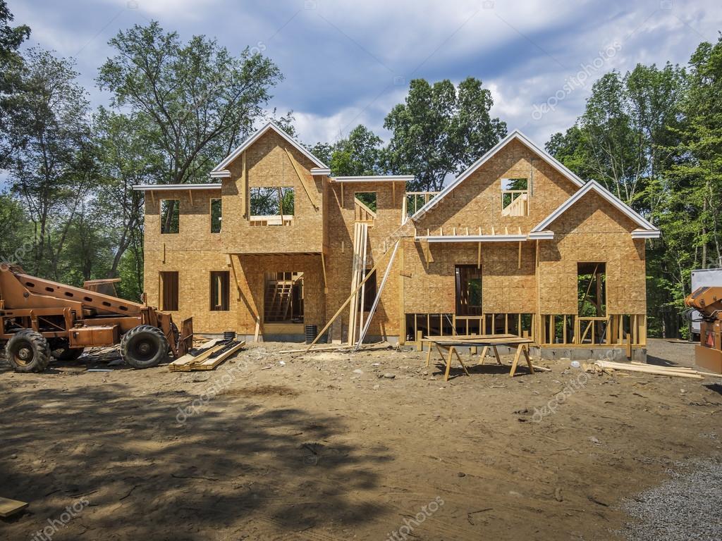 Nieuwe enkele familie huis in aanbouw u stockfoto sonar