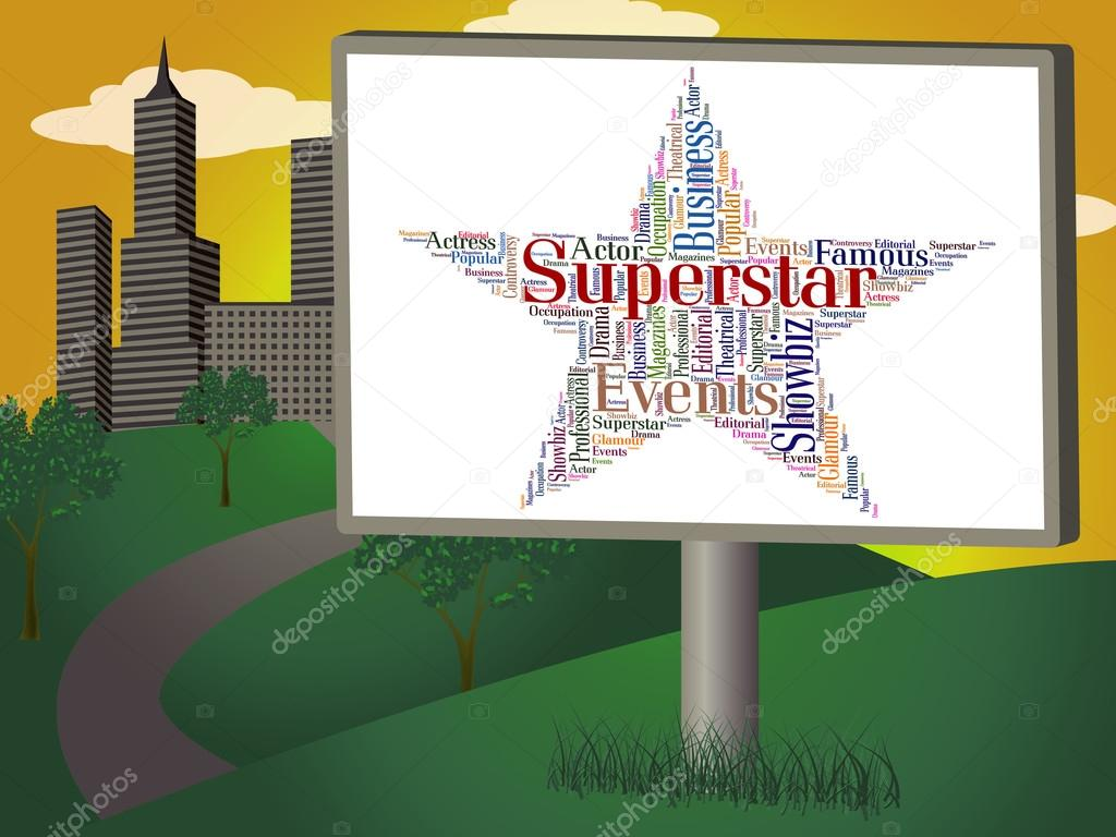 Superstar Word Means Hot Shot And Hero — Stock Photo