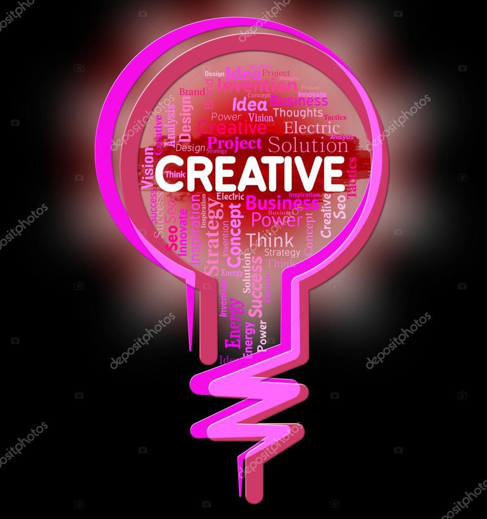 Kreative Glühbirne zeigt kreative Erfindung und Gestaltung ...