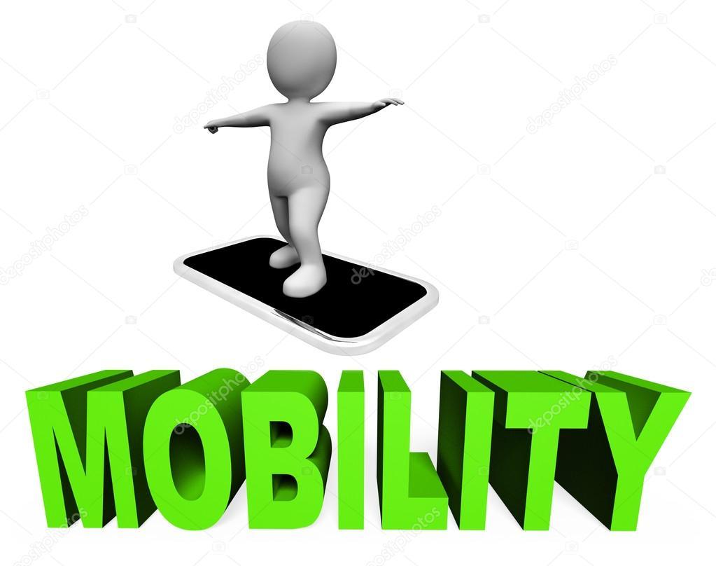 Online mobilit t bedeutet handy und handys 3d rendering for 3d rendering online
