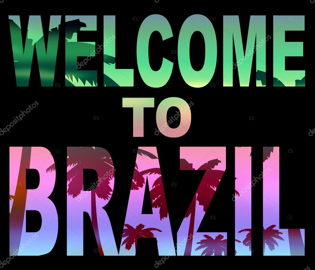 Welcome to brazil means south america and greetings stock photo welcome to brazil means south america and greetings stock photo m4hsunfo