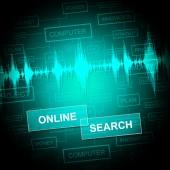 Hledání online ukazuje, shromažďování údajů a Web