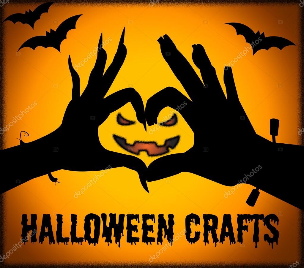 Halloween Handwerk bedeutet kreative Kunst und Gestaltung ...