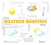 Počasí varování zobrazí meteorologické podmínky a upozornění