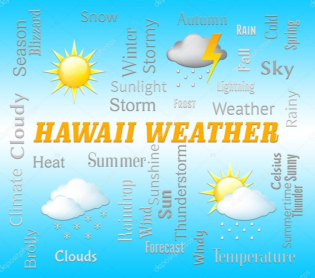 Hawaii Weather Shows Hawaiian Outlook And Forecast — Stock