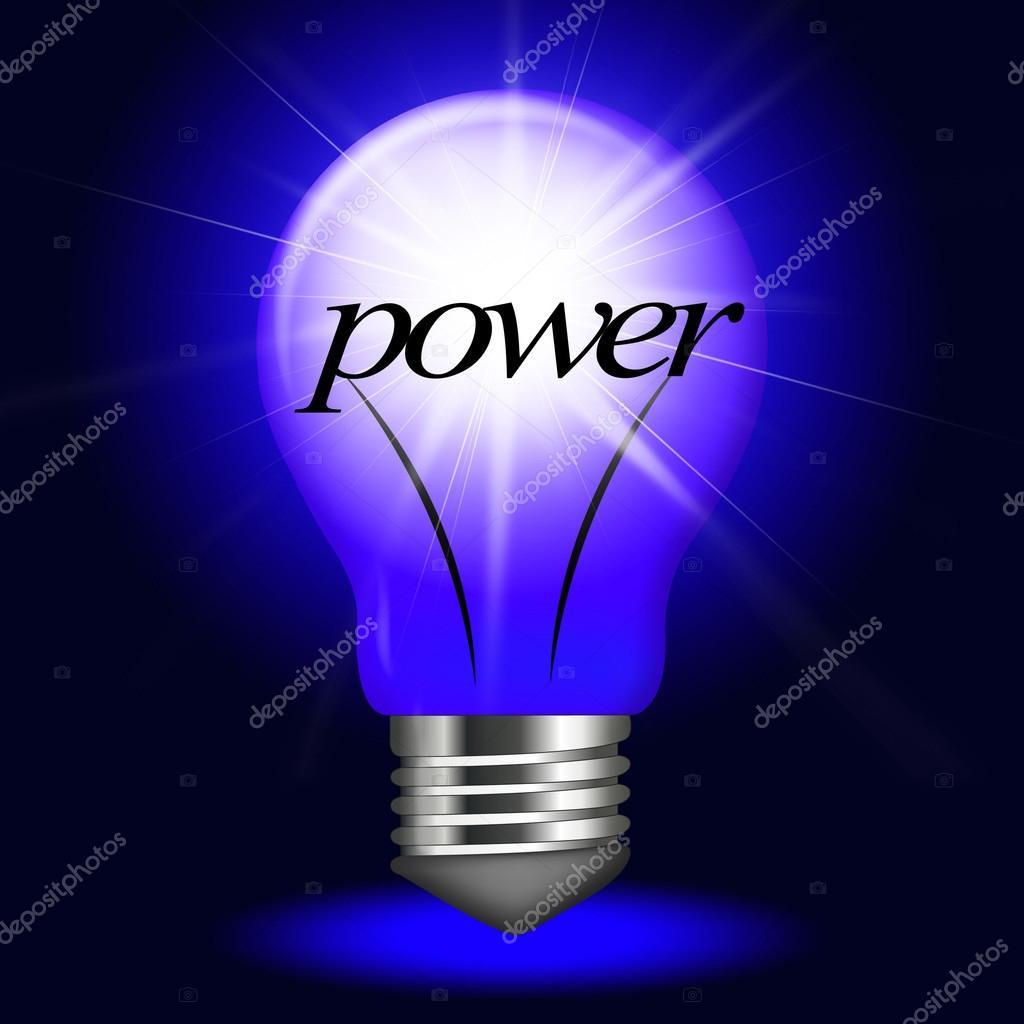energía eléctrica representa bombilla y brillante — Foto de stock ...