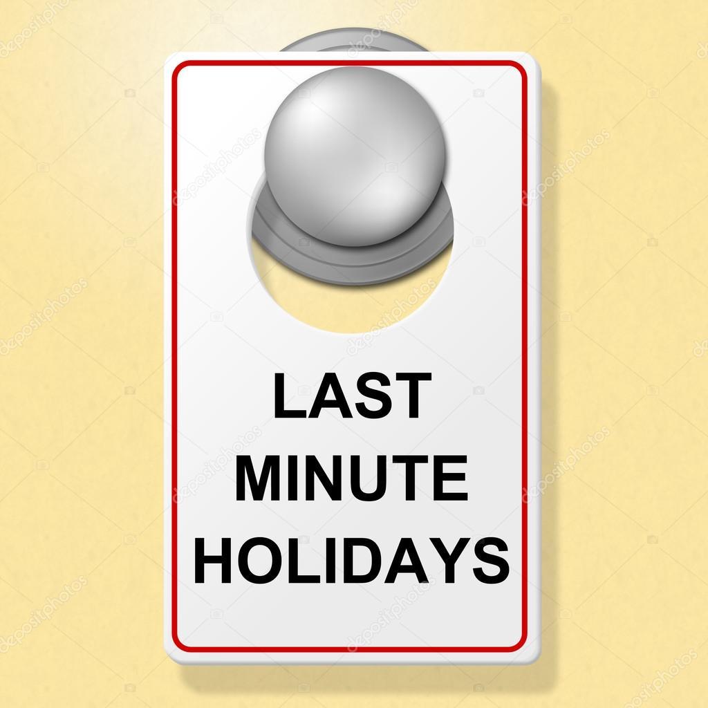 Last Minute Vacanze spettacoli luogo di soggiorno e Hotel — Foto ...