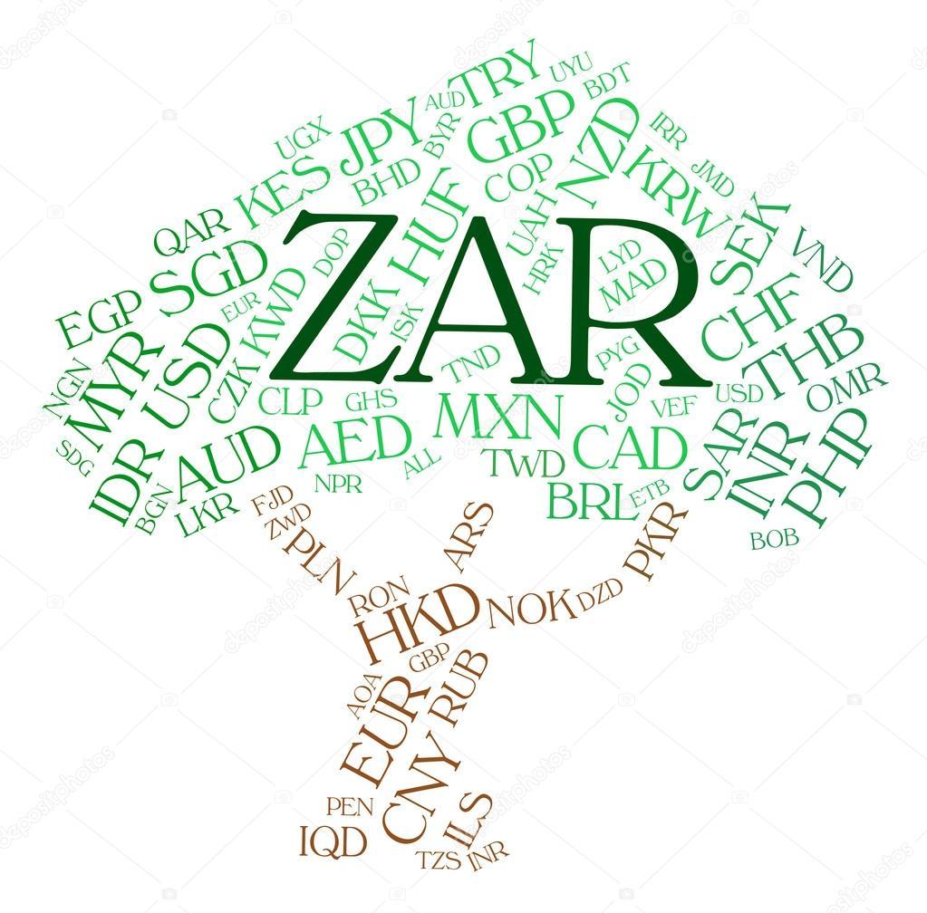 monnaie de zar indique sud africains rands et monnaies photo 76609923