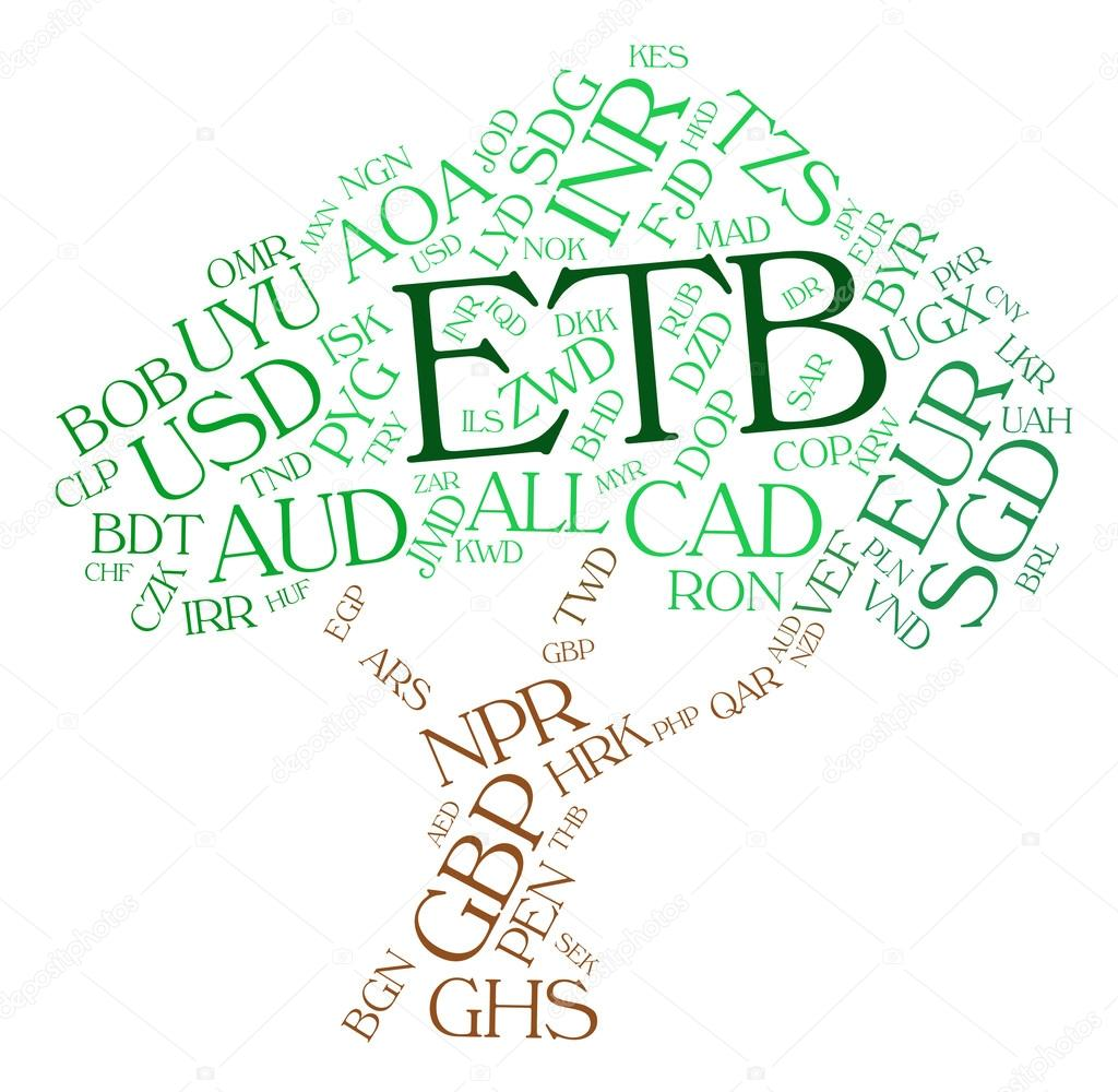 Etb Currency Represents Ethiopian Birrs And Currencies Stock Photo