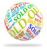 Sold Out Cube Means Stock Stocks And Text