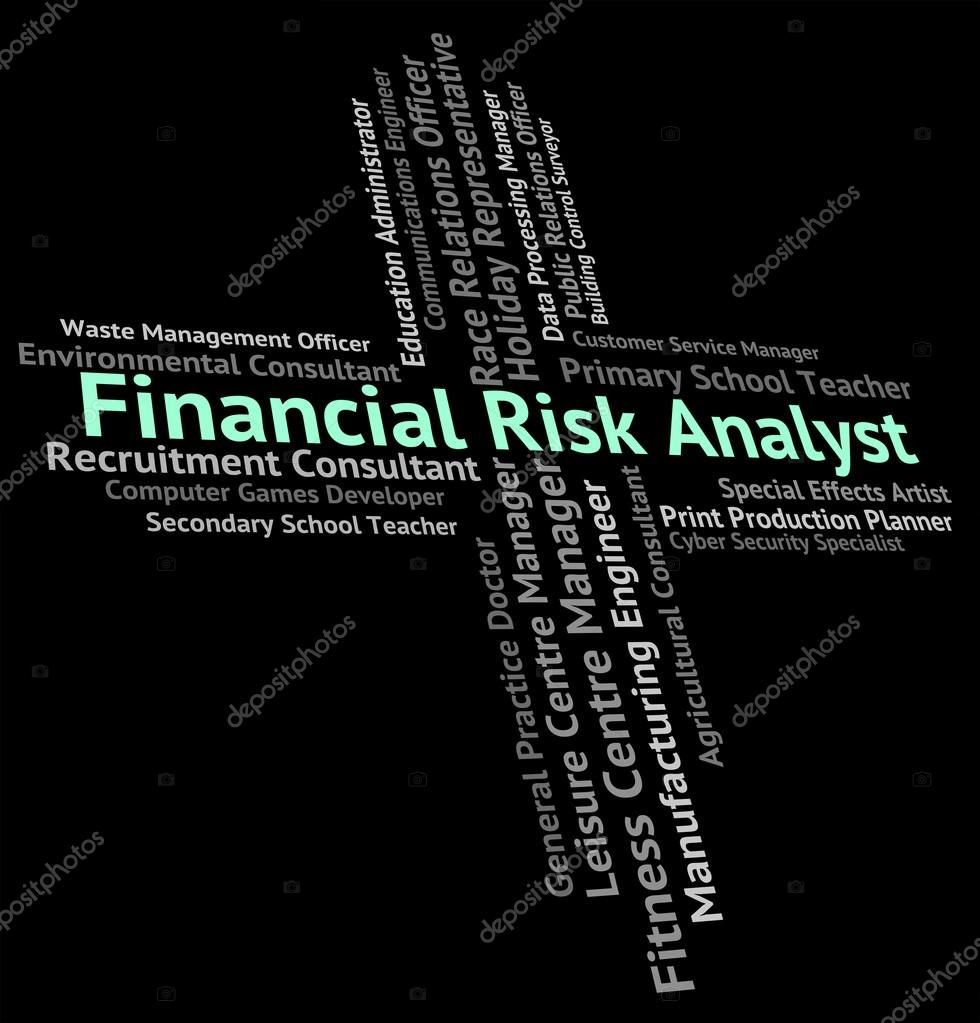financial risk analyst represents insecurity beware and risky stock photo