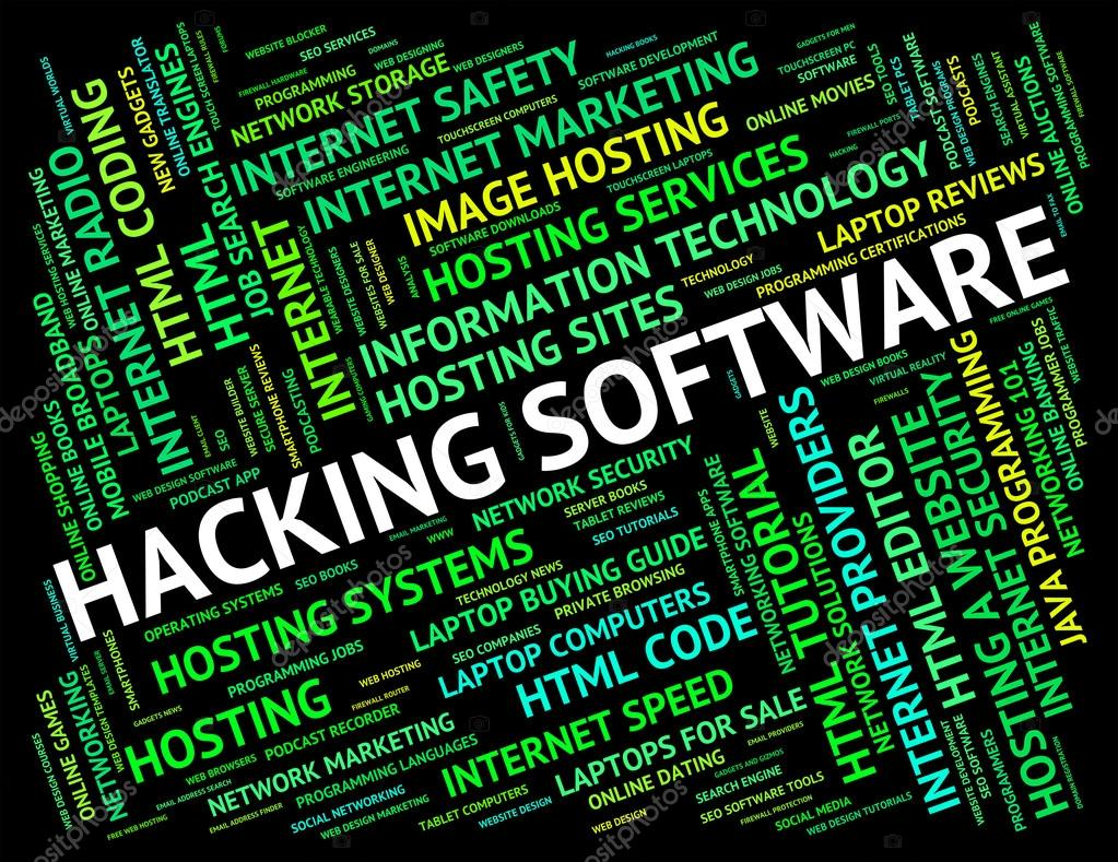 Hacking Software Shows Shareware Application And Attack