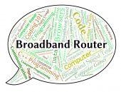 Širokopásmový Router znamená World Wide Web a počítač