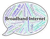 Širokopásmové připojení k Internetu znamená World Wide Web a počítač