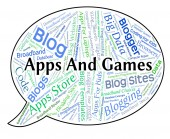 Apps And Games Shows Application Software And Applications
