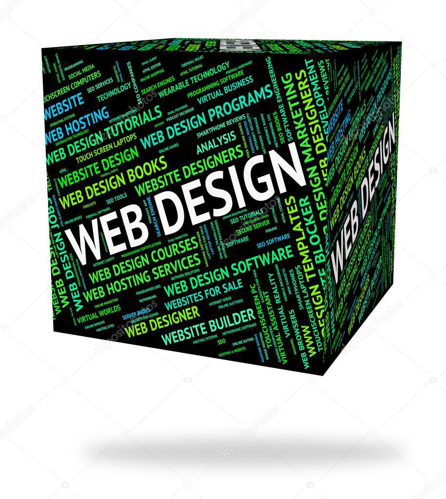 Web Design Stellt Word Designer Und Websites Stockfoto