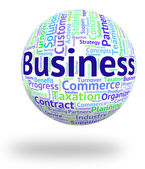 Business Word Means Businesses Trade And Words