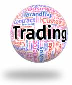Trading Word Indicates Ecommerce Wordcloud And Business