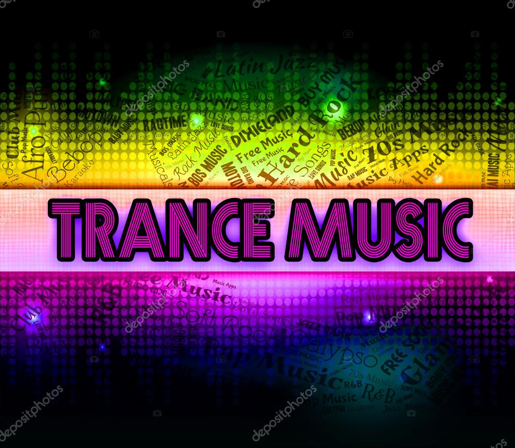 Trance Music Shows Sound Tracks And Electronic — Stock Photo