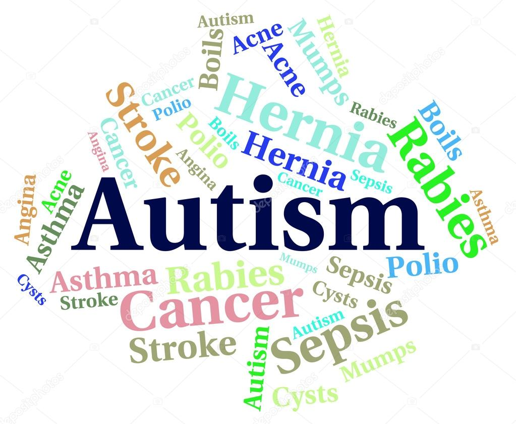 Autism And Ill Health How To Spot >> Autism Word Means Ill Health And Ailment Stock Photo
