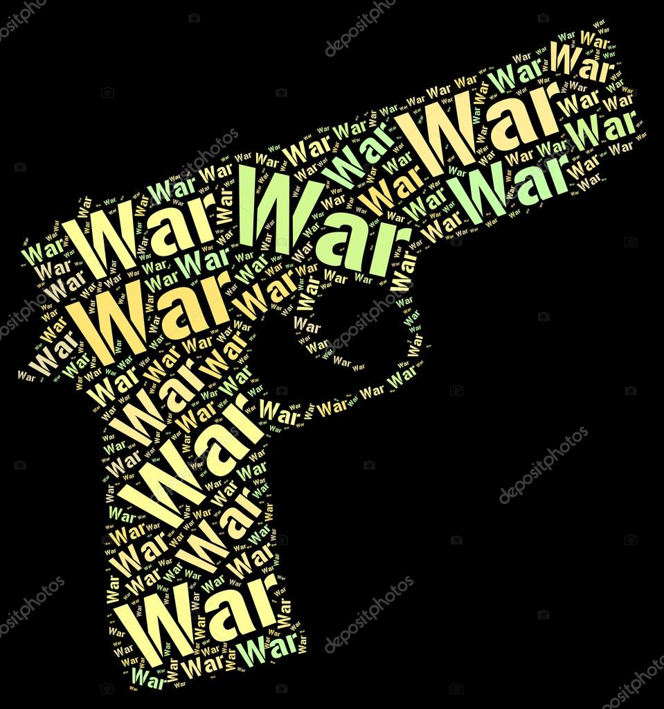 War Words Indicates Fights Wordcloud And Battles — Stock ...