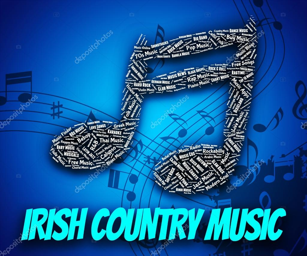 Irish country music shows sound tracks and acoustic — stock photo.