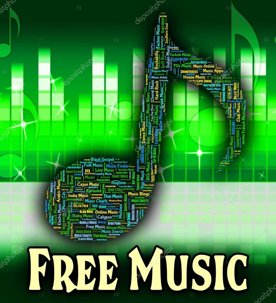 Lizenzfreie Musik Bedeutet Kostenlos Und Gratis Stockfoto