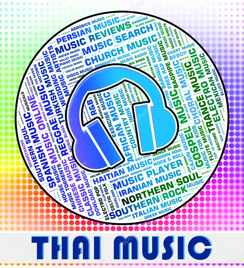 Thai Music Represents Sound Track And Asia — Stock Photo