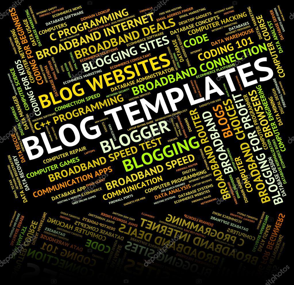 Blog-Vorlagen stellt Textpläne und Worte — Stockfoto © stuartmiles ...