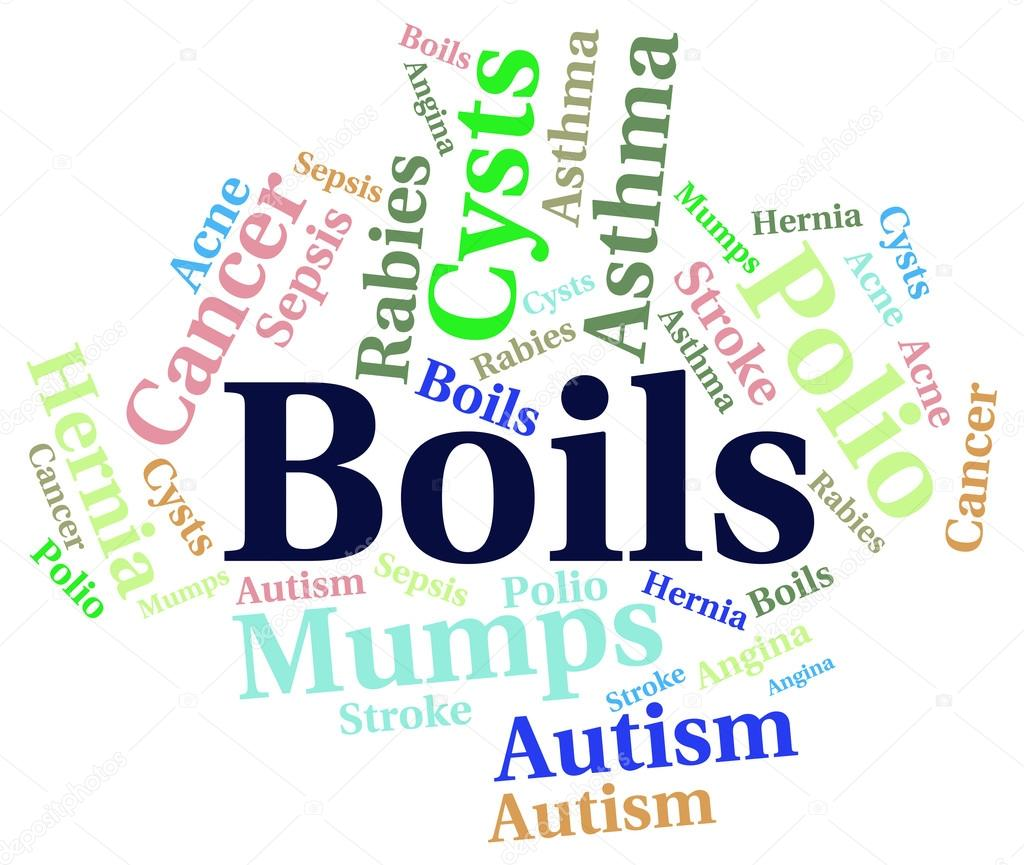 Autism And Ill Health How To Spot >> Boils Word Indicates Ill Health And Afflictions Stock Photo