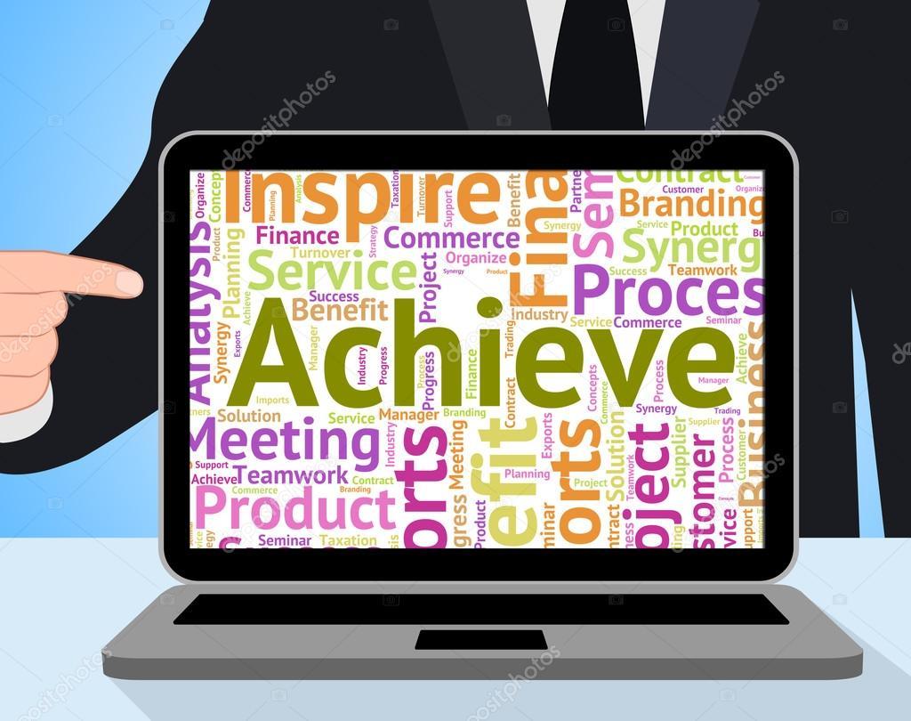 Lograr la palabra significa lograr la mejora y la victoria — Foto de ...