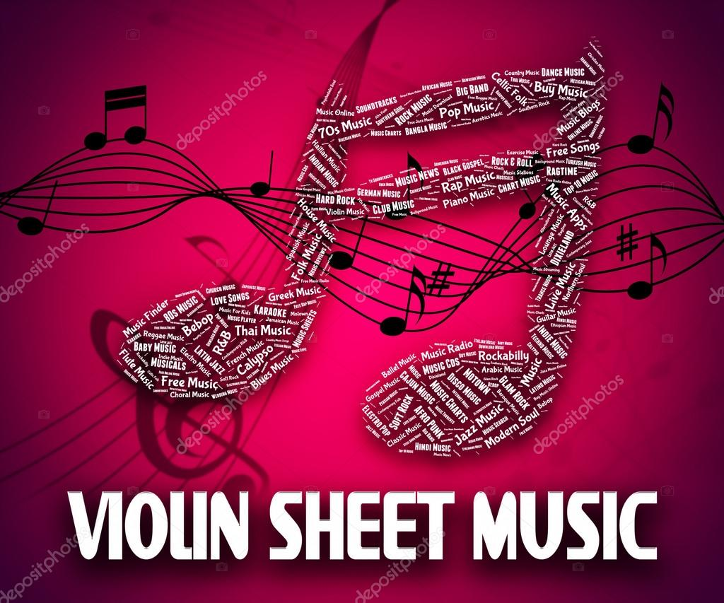 Violin Sheet Music Represents Sound Tracks And Books — Stock Photo