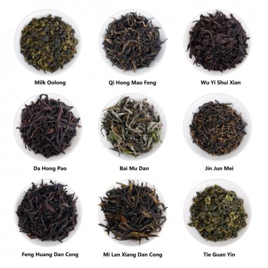Famous Chinese Tea Collection. China Famous Tea Varieties