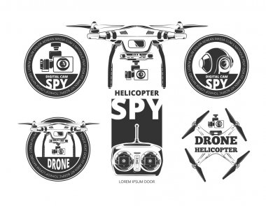 drone labels set