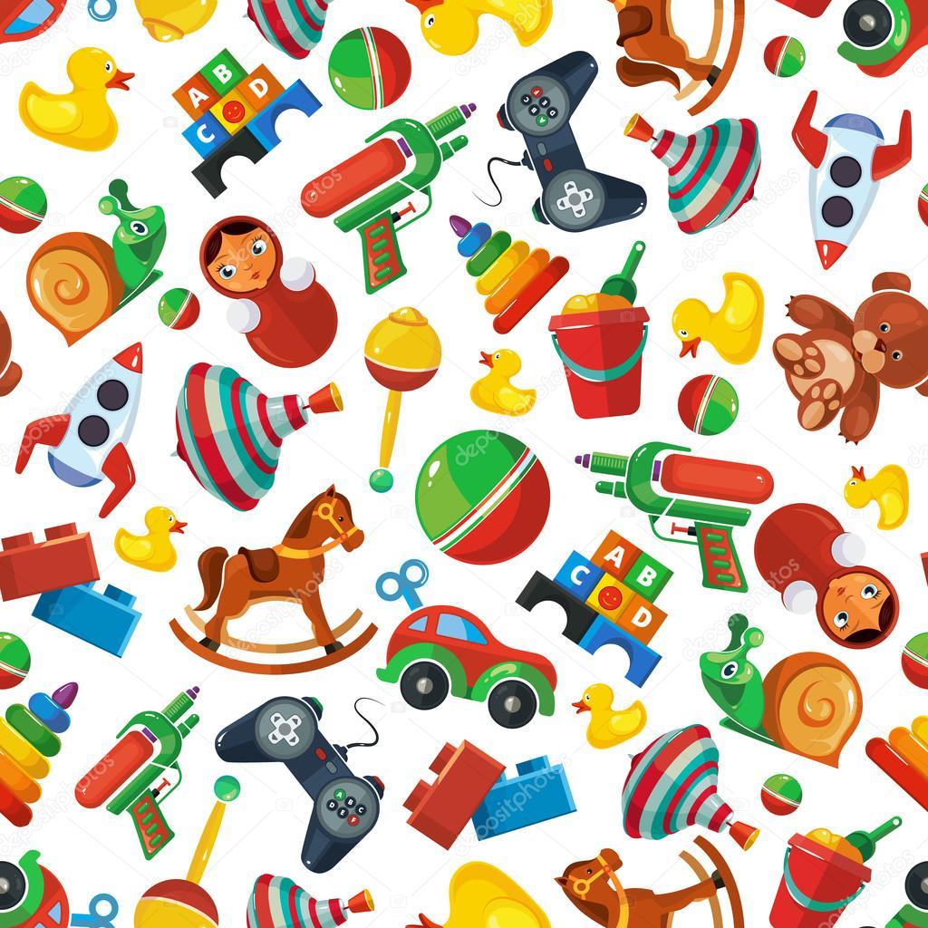 Patr n sin fisuras de juguetes para ni os aislar sobre - Juguetes nuevos para ninos ...
