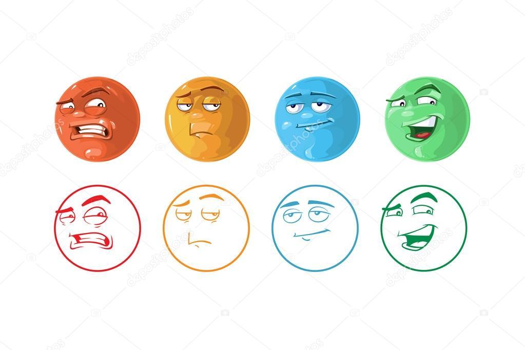 conjunto de iconos de vector de emoticonos de retroalimentación ...