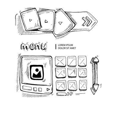 doodle portfolio wireframe