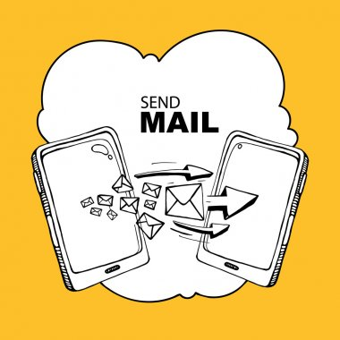 sms and mail concept