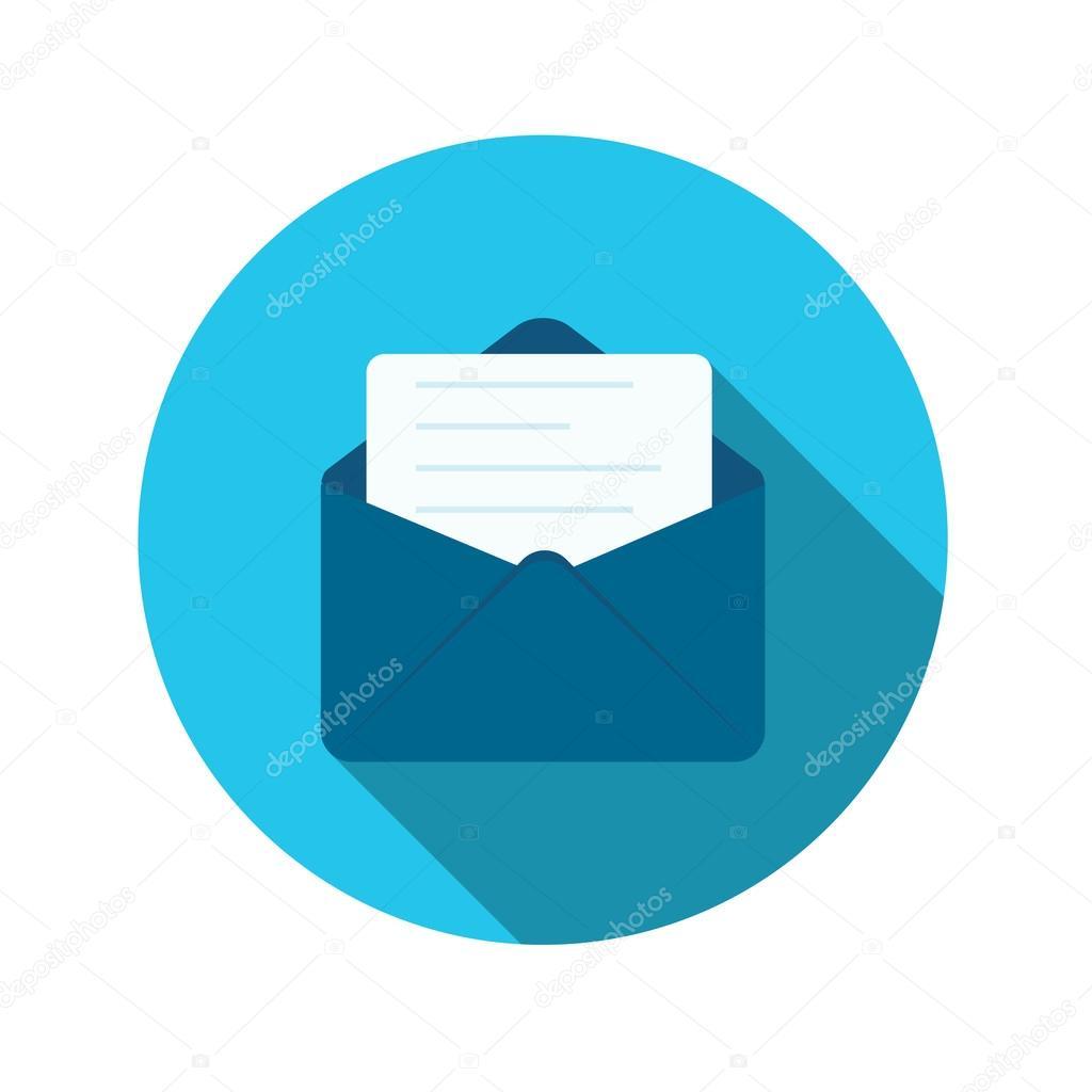 Flaches Design Konzept E-Mail senden Symbol Vektor-Illustration mit ...