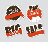 Prodej sada nálepek. Vektorové ilustrace