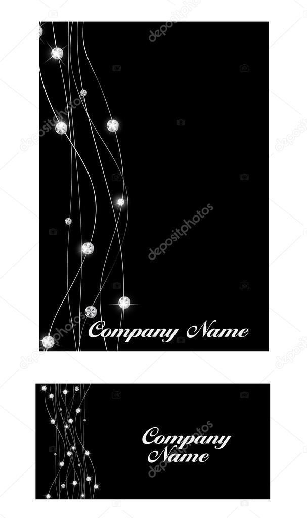 Abstract luxury black diamond business card vector illustration abstract luxury black diamond business card vector illustration vetores de stock reheart Choice Image