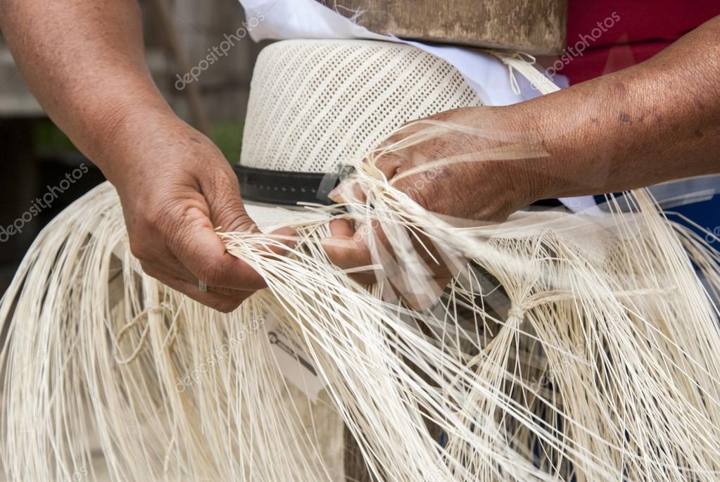 Manual Hat Weaving Process Stock Photo Adfoto 118985226