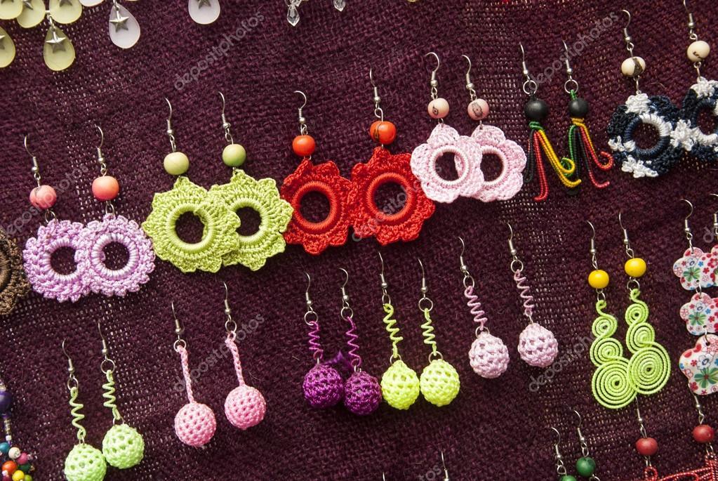 Moda - pendientes de ganchillo patrones — Fotos de Stock © adfoto ...