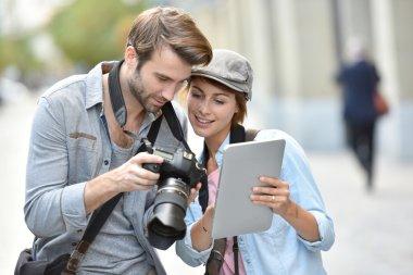 photographers checking shots