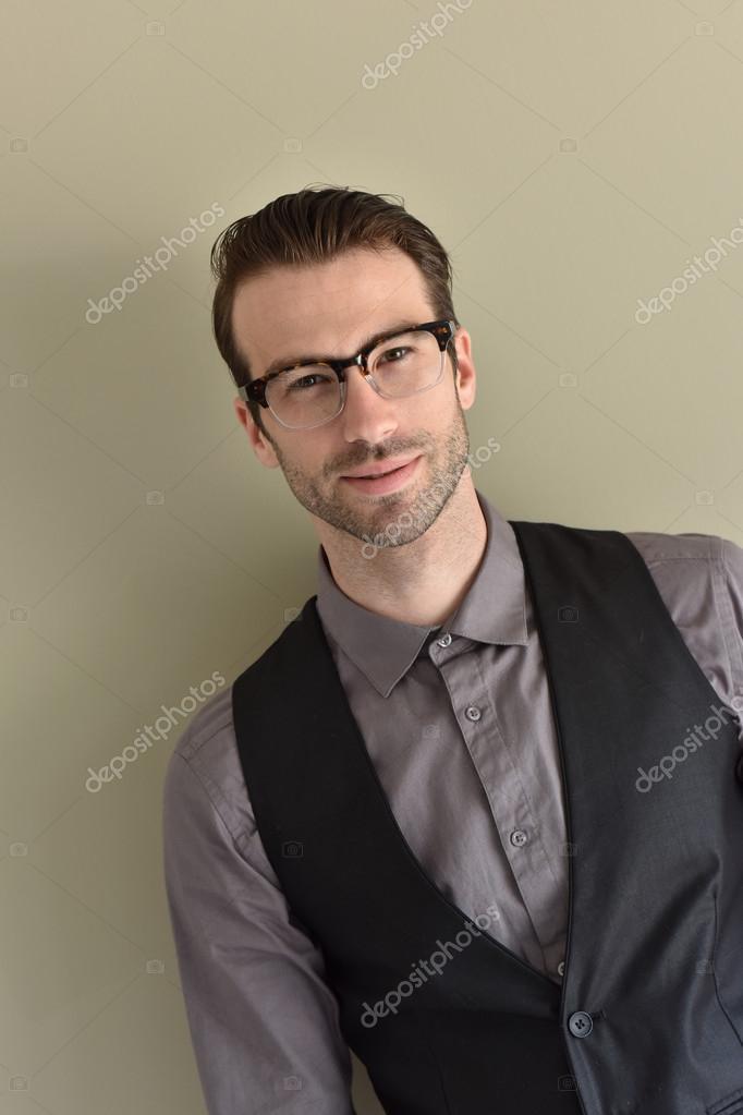 stylish guy wearing eyeglasses � stock photo 169 goodluz