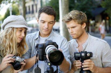 Photographers on training shooting day