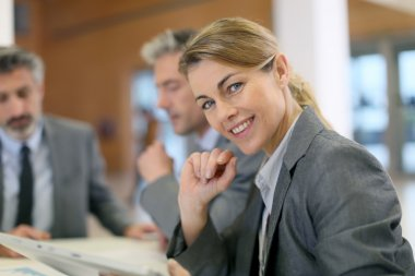 Businesswoman at meeting in office