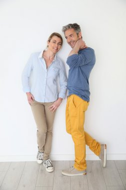 Cheerful mature couple