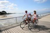 Family on a biking journey