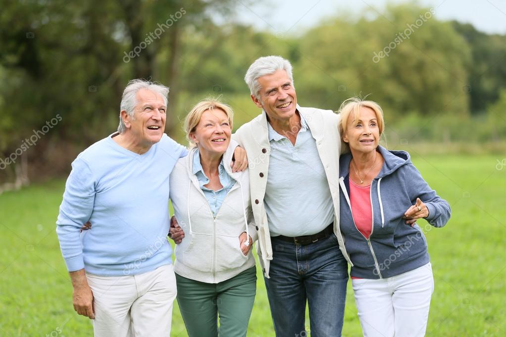 senior people on a walking day